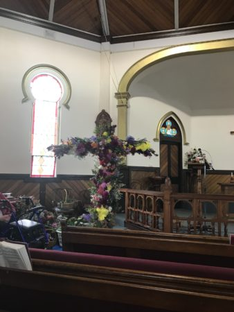 Easter Sunday Decorated Floral Cross Penguin Uniting Church